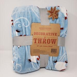 Berkshire Blue Polar Bear Decorative Fleece Throw